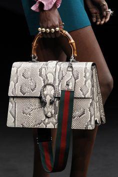 7cf543aaf9cb Gucci Fall 2016 Ready-to-Wear Accessories Photos - Vogue Blue Handbags