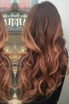 We tried rose gold balayage and loved it... More