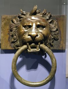 - Bronze fitting of the Nemi Ships in the form of a lion head, built by Caligula in the 1st century AD at Lake Nemi, Palazzo Massimo alle Terme, Rome ./tcc/