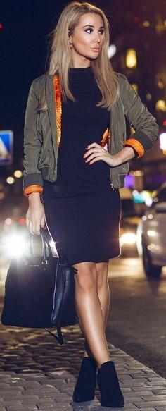 Kissie Boyfriend Bomber Jacket Fall Street Style Inspo