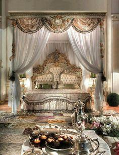 Wonderful Luxury Bedroom Furniture Ideas : Luxury Italian Bedroom Design - Luxury Homes Dream Rooms, Dream Bedroom, Home Bedroom, Bedroom Decor, Bedroom Ideas, Royal Bedroom, Castle Bedroom, Gothic Bedroom, Warm Bedroom