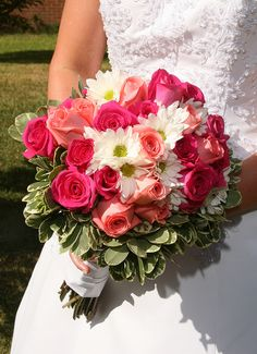 Gorgeous Bride Bouquet with Roses and Daisies | Flickr - Photo Sharing!