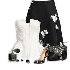 The Midi Skirt by oribeauty-cosmeticos on Polyvore featuring moda, Bardot, Christian Louboutin, Giuseppe Zanotti, Kit Heath, Givenchy and Pim + Larkin