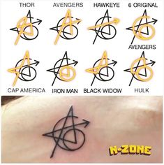 All the meanings behind Avenger's new #tattoo! ⚡️ (thanks to @nerd.zone) #regnodisney #disney #marvel #tattoos #ig #marveltattoo…