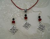 Very thin gauge wire Viking weave with Celtic knots