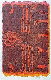 "Wopko Jensma ""Face & forms"", 1975 - colour woodcut - ed. Art Archive, African Art, Colour, Face, Color, Calla Lily, Faces, Facial, African Artwork"