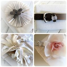 Beautiful, yet simple & inexpensive, gift wrap ideas
