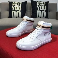 Casual Leather Shoes, Casual Shoes, High Top Sneakers, Sneakers Nike, Wholesale Shoes, Albums, Gucci, Menswear, Mens Fashion