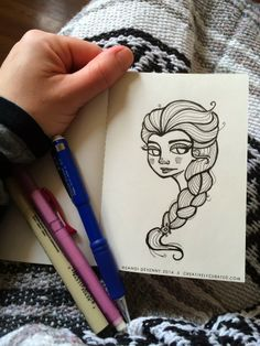 Creatively Curated: SANDI DOODLES : FROZEN PRINCESS ELSA