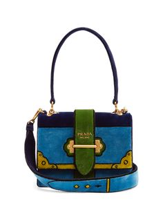0ff3f0138b70 Click here to buy Prada Cartoon velvet shoulder bag at MATCHESFASHION.COM Prada  Bag,