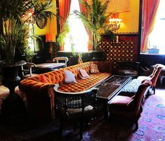 The Jane Hotel bar (drank cocktails in that couch :) ) Architecture Details, Interior Architecture, Interior And Exterior, Interior Design, Diy Design, Victorian Bar, Nyc Restaurants, All I Ever Wanted, Hollywood Regency