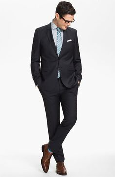 BOSS Black Suit & Dress Shirt | Nordstrom