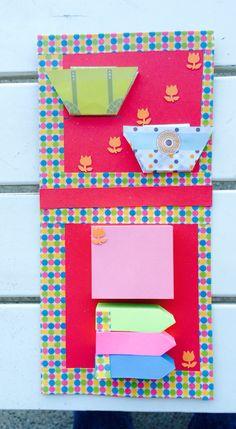 Post it origami con borsette