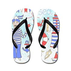 a2aaac6cd6b5 Gueskie Sea Party flip flops Adults MBlue   Learn more by visiting the  image link.