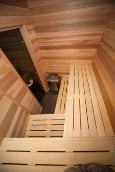 People have been enjoying the benefits of saunas for centuries. Spending just a short while relaxing in a sauna can help you destress, invigorate your skin Sauna House, Sauna Room, Saunas, Outdoor Sauna For Sale, Sauna Hammam, Building A Sauna, Sauna Shower, Hot Tub Room, Sauna Heater