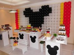 Painel de Balões Mickey Mouse