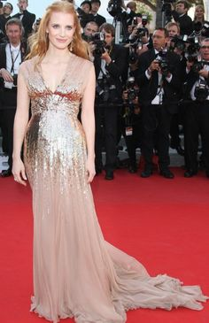 Jessica Chastain in Gucci.