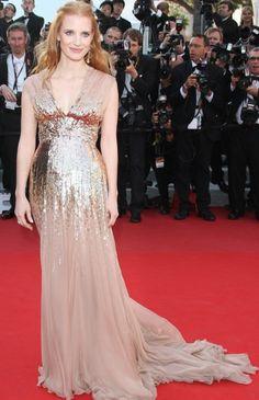 Jessica Chastain in Gucci.