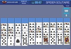 Play interesting spider solitaire a game based on classic Solitaire. Get all cards in both decks are in the discard pile to be the winner.