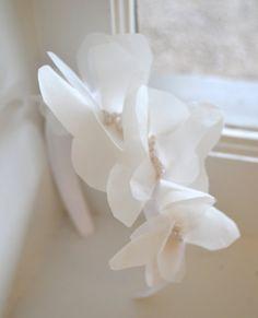 First Communion Headband ~ First Communion Headpiece ~ First Communion Hair Accessories ~ Flower Girl Headband ~ Confirmation Headpiece ~ www.couturesbylaura.etsy.com