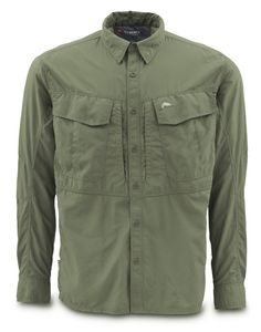 Sweatwater Mens Top Outdoor Button Down Long-Sleeve Cargo Twill Shirt