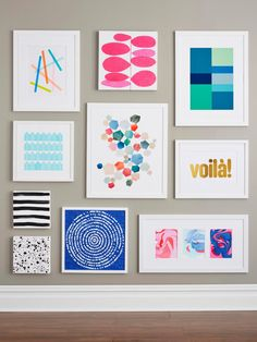 Fill a wall with #DIY art! #HGTVMagazine walks you through nine easy how-tos. http://www.hgtv.com/design/decorating/design-101/9-easy-yet-impressive-diy-wall-art-projects-pictures?soc=pinterest
