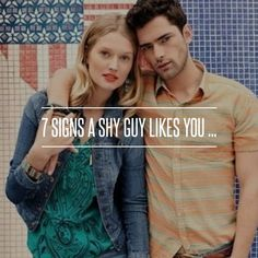 7 #Signs a Shy Guy Likes You ... → Love #Chance