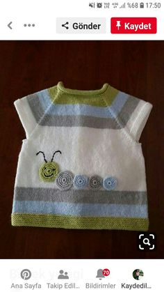 Baby vest – the Baby Boy Knitting, Knitting For Kids, Kids Knitting Patterns, Baby Patterns, Toddler Vest, Knit Basket, Knitted Baby Clothes, Baby Cardigan, Baby Sweaters