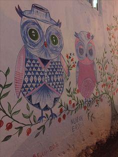 Nuran Abladan Germiyan duvar resimleri