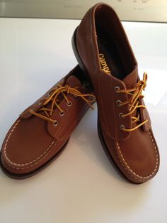 Deck Shoes Campers Leather Lace Up Oxford by TheFlyingBlueMonkey, $24.95
