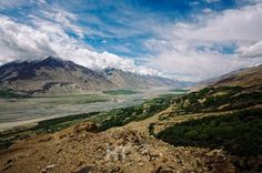Panj river from Yamchun fort in Wakhan valley, Tajikistan.