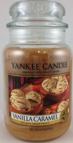 Yankee Candle Vanilla Caramel : Delectable aroma of creamy vanilla ice cream laced with swirls of sugary caramel.