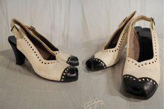 1930s Shoes// 1930s Heels// 30s Peep Toe by RockabillyRavenVtg