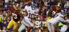 NFL: Eli Manning con 5 TD guió victoria de Gigantes