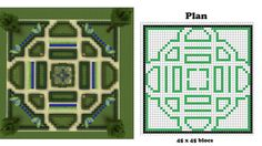 minecraft blueprints, I made this garden, it's awesome!