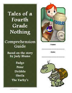 Tales Fourth Grade Nothing Comprehension Activity Guide KEY Reading Common Core Standards: 1,2,3,4,5,6 This is a  reading comprehension activity guide and answer key for Tales of a Fourth Grade Nothing by Judy Blume. Included are comprehension questions for each chapter with an emphasis on specific reading strategies such as visualizing, summarizing, predicting, connections, and more. …
