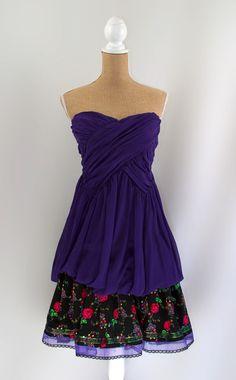"""Angelika Dress"" Folk- Size 5- Purple & Black | Recultured Designs - Love this style!!"