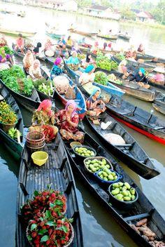 Lok Baintan Floating market, South Kalimantan