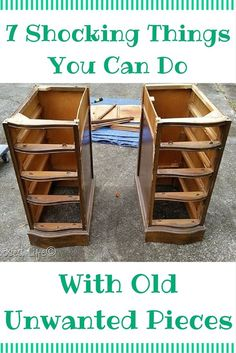 Shocking Things You Can Do With Old Unwanted Pieces DIY 7 Beautifully Brilliant Home Hacks Anyone Can do - With Unwanted Furniture !DIY 7 Beautifully Brilliant Home Hacks Anyone Can do - With Unwanted Furniture ! Unwanted Furniture, Old Furniture, Refurbished Furniture, Repurposed Furniture, Furniture Projects, Furniture Making, Furniture Makeover, Rustic Furniture, Business Furniture