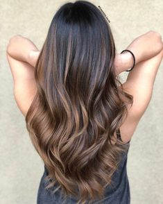60 Hairstyles Featuring Dark Brown Hair with Highlights Light Br. - 60 Hairstyles Featuring Dark Brown Hair with Highlights Light Brown Balayage The Ef - Dark Brown Balayage, Copper Balayage, Dark Hair With Highlights, Balayage Hair Blonde, Bayalage, Brown Balyage, Balayage Highlights, Balayage Diy, Color Highlights