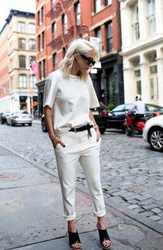 white on white. Courtney in LA. #AlwaysJudging