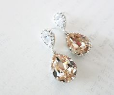 Sammy  Cubic Zirconia Teardrop Swarovski Light by GlitzAndLove, $30.00