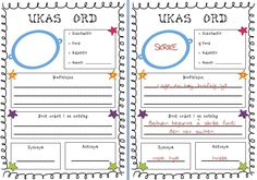This is a great tool to get students think about Norwegian vocabulary and practice those weekly words. For the younger students I will make a big A. Reading Words, Different Quotes, Too Cool For School, Teaching Reading, Teacher Pay Teachers, Teacher Newsletter, First Grade, Vocabulary, Language
