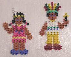 Native americans hama beads