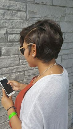 lovely Short Hairstyles for Black Women Dont miss As a Black woman hand over your tension concerning whether or not you may be ready to reach yourself at a typical posit. Short Bob Hairstyles, Black Women Hairstyles, Haircut Short, Short African American Hairstyles, Layered Haircuts, Hairstyles Haircuts, Relaxed Hair Hairstyles, Teenage Hairstyles, Curly Haircuts