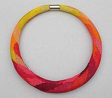 Another lovely bead crochet necklace from H. Ilkerl.