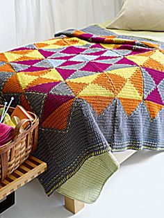 "Free pattern for ""Mix And Match Afghan""!"