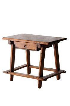 OLD PINE WOOD FRENCH DISPLAY TABLE