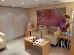 Inside the Perfect Smile Studios Perfect Smile, Corner Desk, Studios, Conference Room, Table, Furniture, Home Decor, Corner Table, Decoration Home