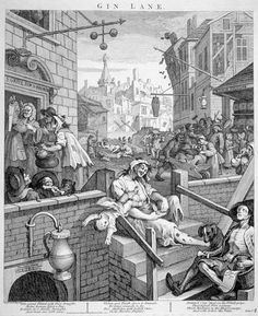 Gin Lane, etching & engraving by William Hogarth, I first wrote about gin back in It's almost hard to believe but that's twelve years ago. In those days, I found myself describing gin as, I quote: 'slighty old-fashioned. William Hogarth, Gin History, British History, London History, Medical History, History Books, Print Poster, Poster Size Prints, Industrial Revolution